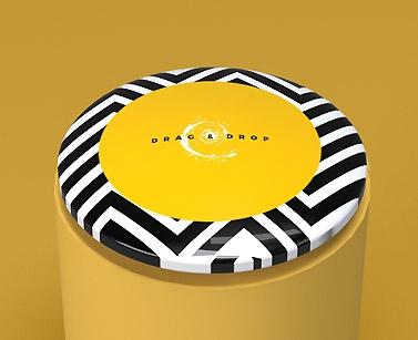 impresion para Pegatinas gota de resina circular