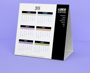impresion para Calendario  Mesa · Automontable
