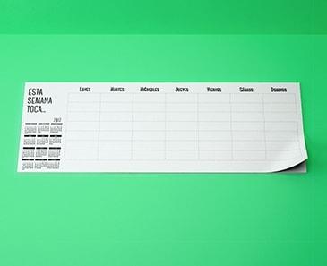 impresion para Calendario Planificador