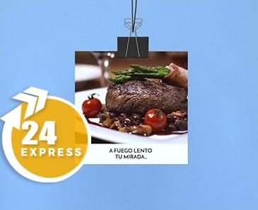 impresion para Flyer cuadrado Express