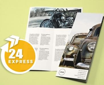 impresion para Díptico A4-Medio Express