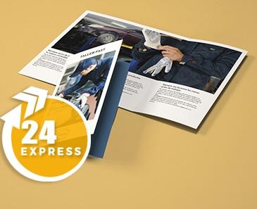 impresion para Tríptico A2 (19,8x42cm) Express