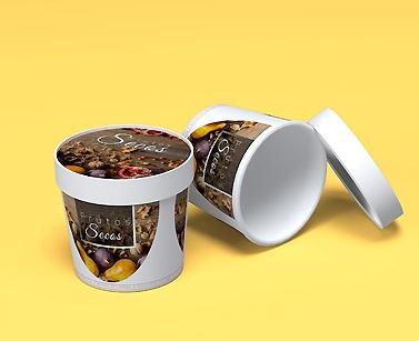 impresion para Tazón de cartón para alimentos
