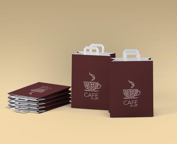 impresion para Bolsas de papel con asa plana 22+12x31.5